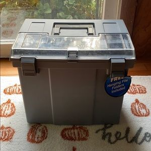 Grey Storage Container for Filing & Organization